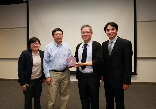 From left to right: Prof. Megan Ho, Prof. Yu Huang, Prof. Chiang Ann-Shyn and Prof. Raymond Tong