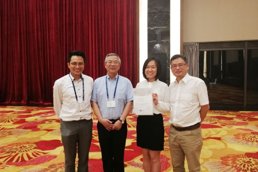 Ms. Zeng Xuezhen (2nd from right) and her supervisor Prof. Alfred S. L. Cheng (1st from left)